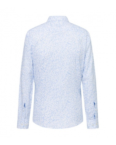 Hackett London Camisa Lino Floral detrás