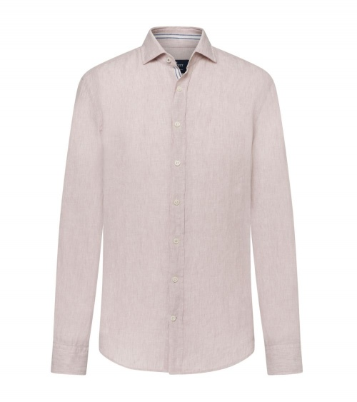 Hackett London Camisa Lino Beige