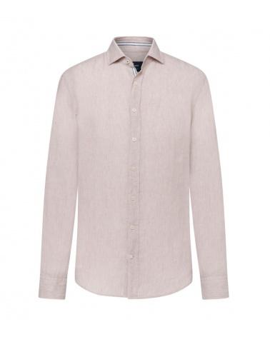 Hackett London Camisa Lino Beige