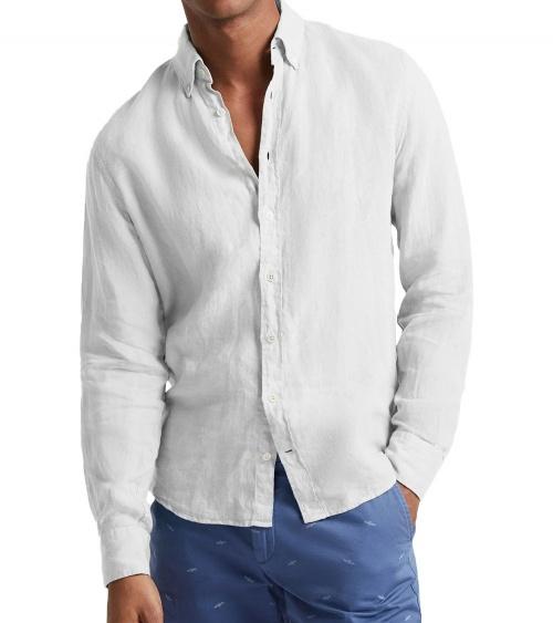 Hackett London Camisa Lino Blanca