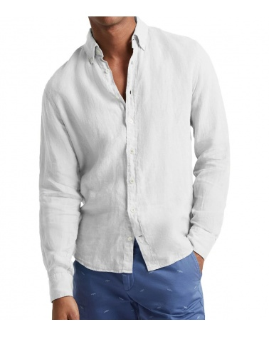 Hackett London Camisa Lino Blanca