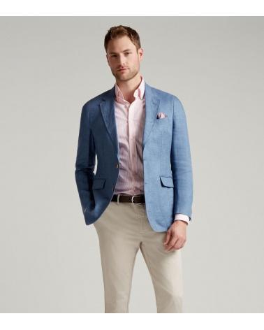 Hackett London Americana Lino Azul modelo