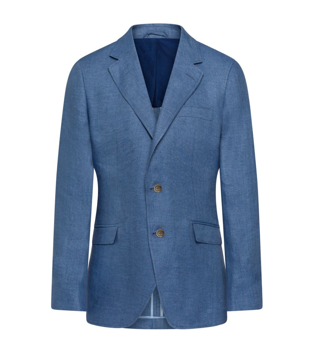 Hackett London Americana Lino Azul