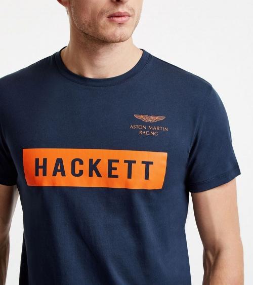 Hackett London Camiseta Navy Logo detalle