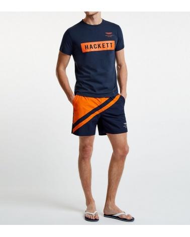 Hackett London Camiseta Navy Logo modelo look