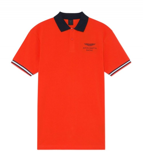 Hackett London Polo Orange Aston Martin