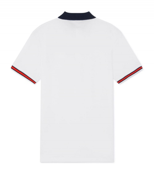 Hackett London Polo Blanco Aston Martin detrás
