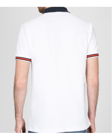 Hackett London Polo Blanco Aston Martin modelo espalda