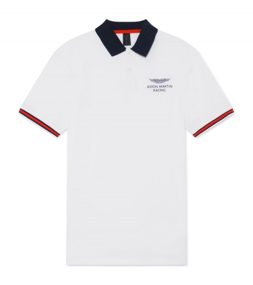 Hackett London Polo Blanco Aston Martin
