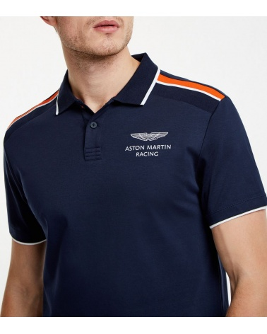 Hackett London Polo Marino Aston Martin modelo logotipo