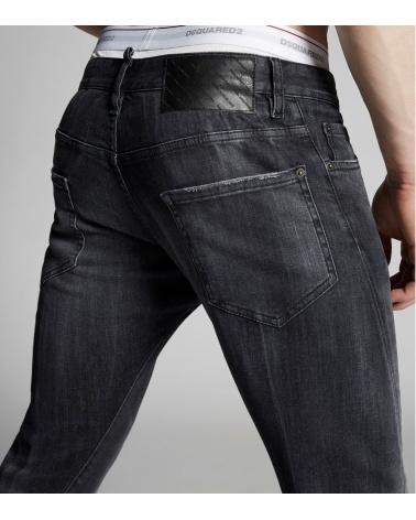 Jeans Black Maxi Etiqueta Dsquared2 detalle