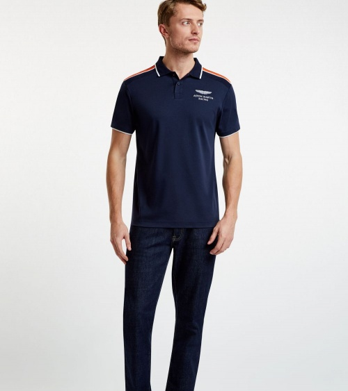 Hackett London Polo Marino Aston Martin modelo