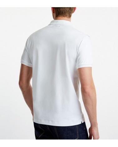 Hackett London Polo Rayas Racing Blanco modelo espalda