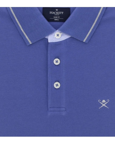 Hackett London Polo Leading Lavanda detalle