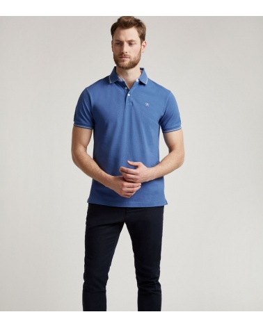 Hackett London Polo Leading Lavanda modelo look
