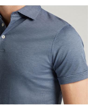 Hackett London Polo Vestir Blue detalle