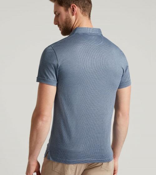 Hackett London Polo Vestir Blue modelo espalda