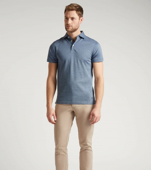 Hackett London Polo Vestir Blue modelo look