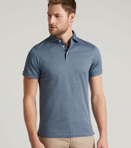 Hackett London Polo Vestir Blue modelo