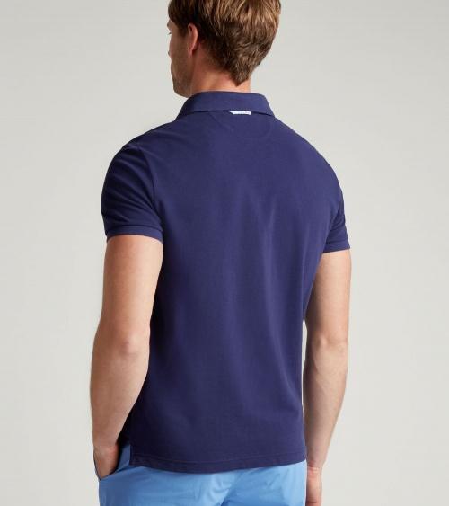 Hackett London Polo Básico Marino modelo espalda