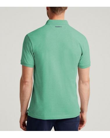 Hackett London Polo Henley Verde modelo espalda