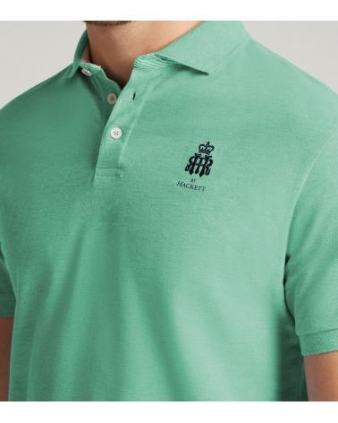 Hackett London Polo Henley Verde modelo logo