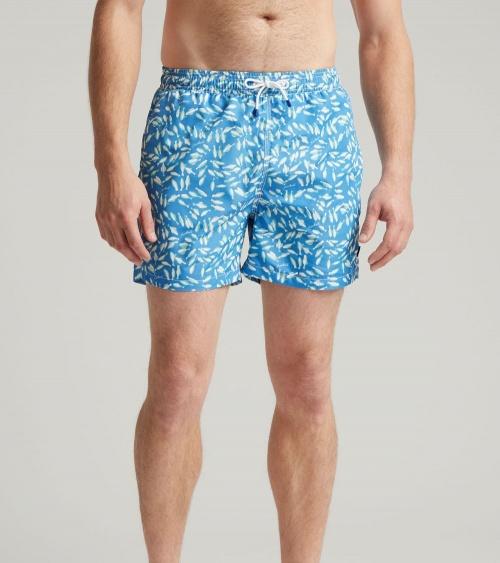Hackett London Bañador Azul Peces modelo