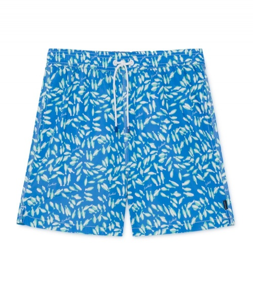 Hackett London Bañador Azul Peces