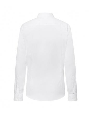Hackett London Camisa Oxford Blanca detrás