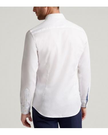 Hackett London Camisa Oxford Blanca modelo espalda