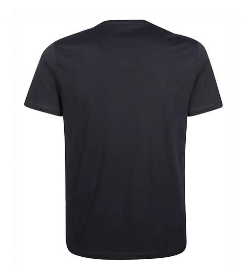 Emporio Armani Camiseta Navy Flower detrás
