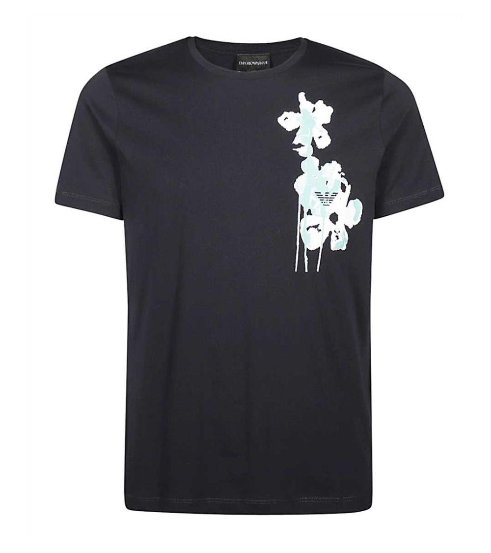 Emporio Armani Camiseta Navy Flower