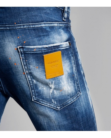 Dsquared2 Jeans Skinny Orange detalle
