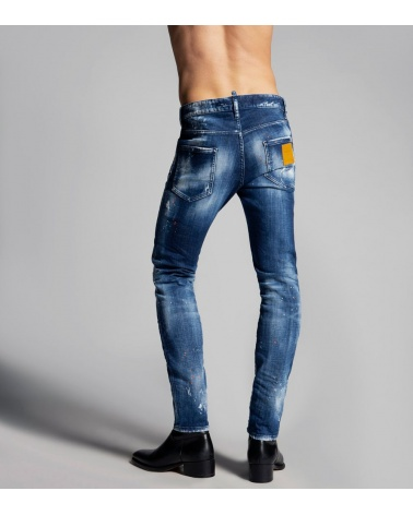 Dsquared2 Jeans Skinny Orange modelo detrás