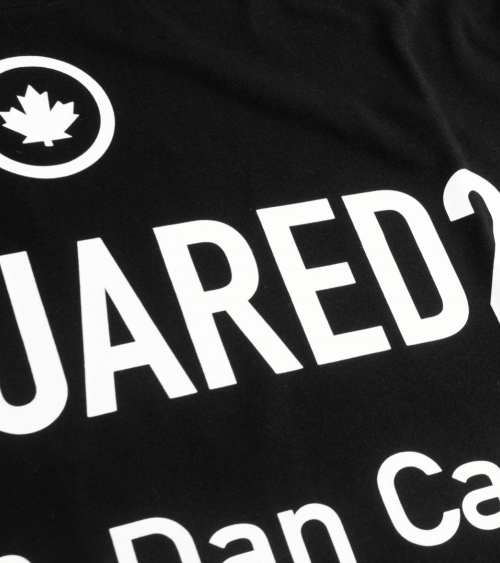 Dsquared2 Camiseta Black D2 detalle