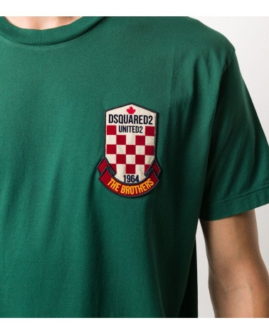 Dsquared2 Camiseta Green United2 detalle