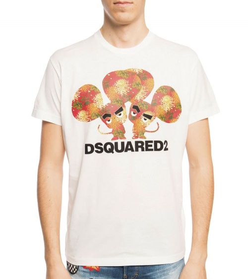 Dsquared2 Camiseta White Mouse modelo