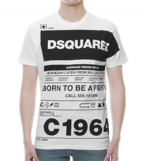Dsquared2 Camiseta White Twins