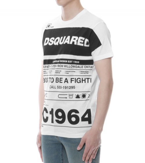 Dsquared2 Camiseta White Twins lateral