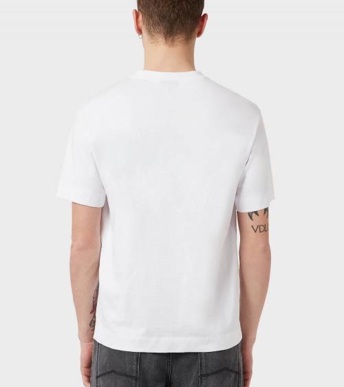 Emporio Armani Camiseta White Sign modelo espalda
