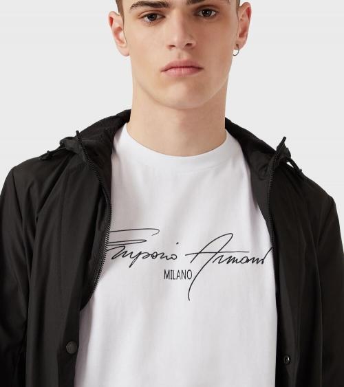 Emporio Armani Camiseta White Sign detalle