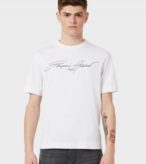 Emporio Armani Camiseta White Sign modelo