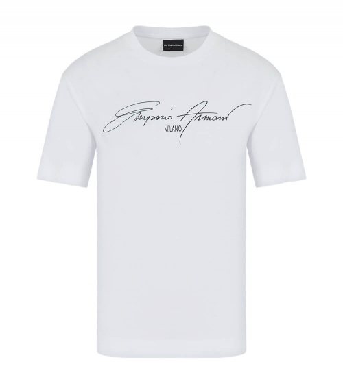 Emporio Armani Camiseta White Sign