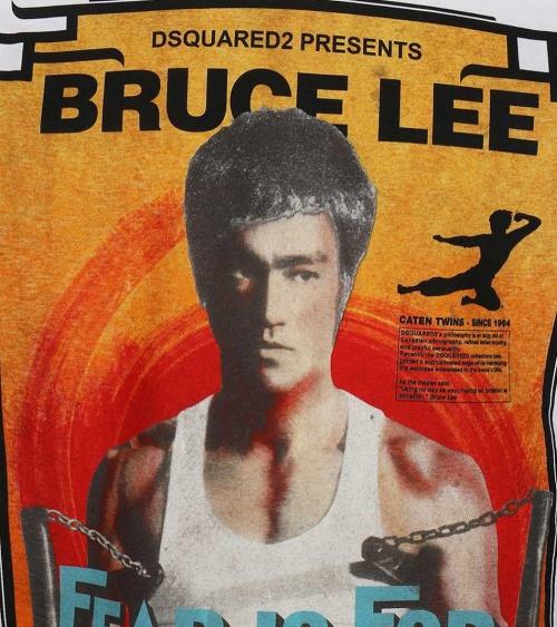Camiseta Bruce Lee Dsquared2 detalle print