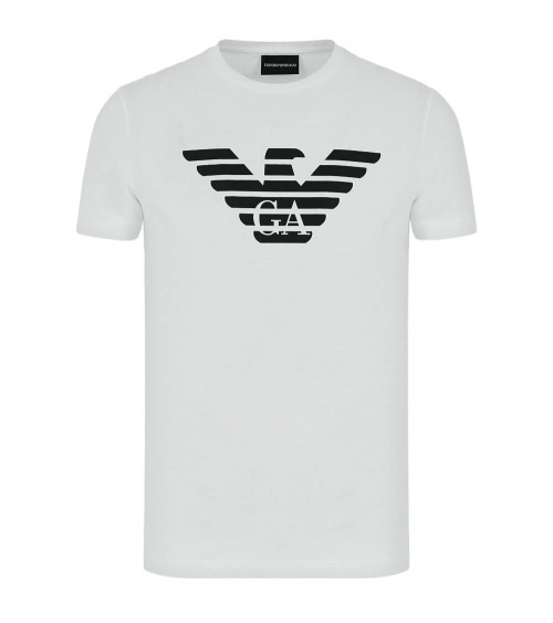 Emporio Armani Camiseta Blanca Logo Pecho