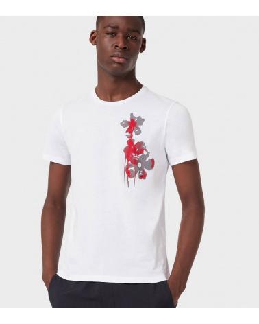 Emporio Armani Camiseta Blanca Flower modelo