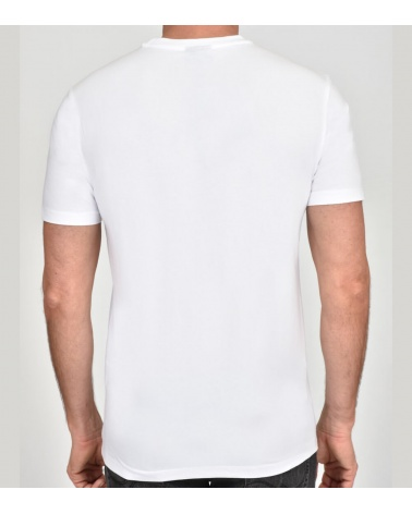 Emporio Armani Camiseta Blanca Eagle modelo espalda