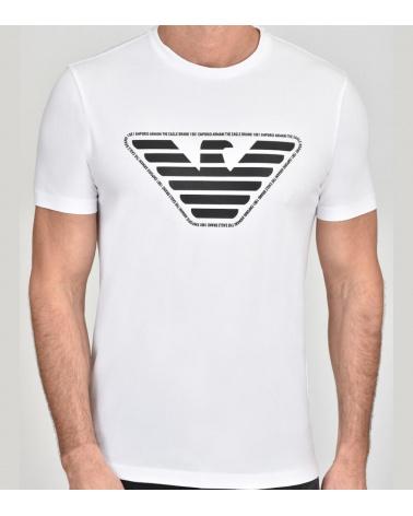 Emporio Armani Camiseta Blanca Eagle modelo