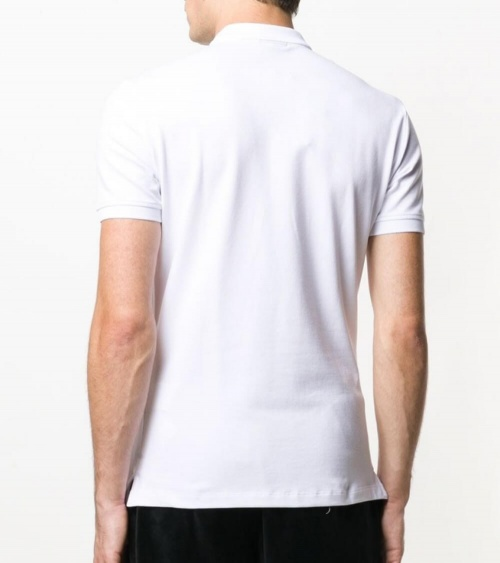 Emporio Armani Polo Blanco Liso modelo espalda