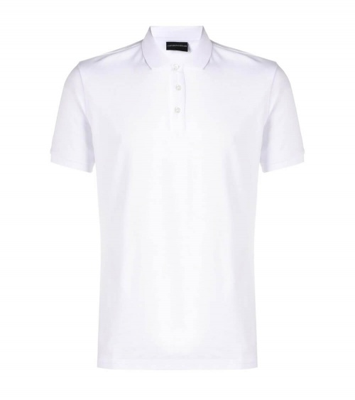 Emporio Armani Polo Blanco Liso
